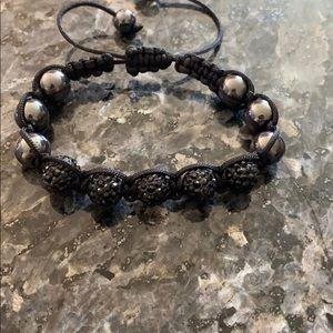 Jewelry - Black adjustable bead bracelet
